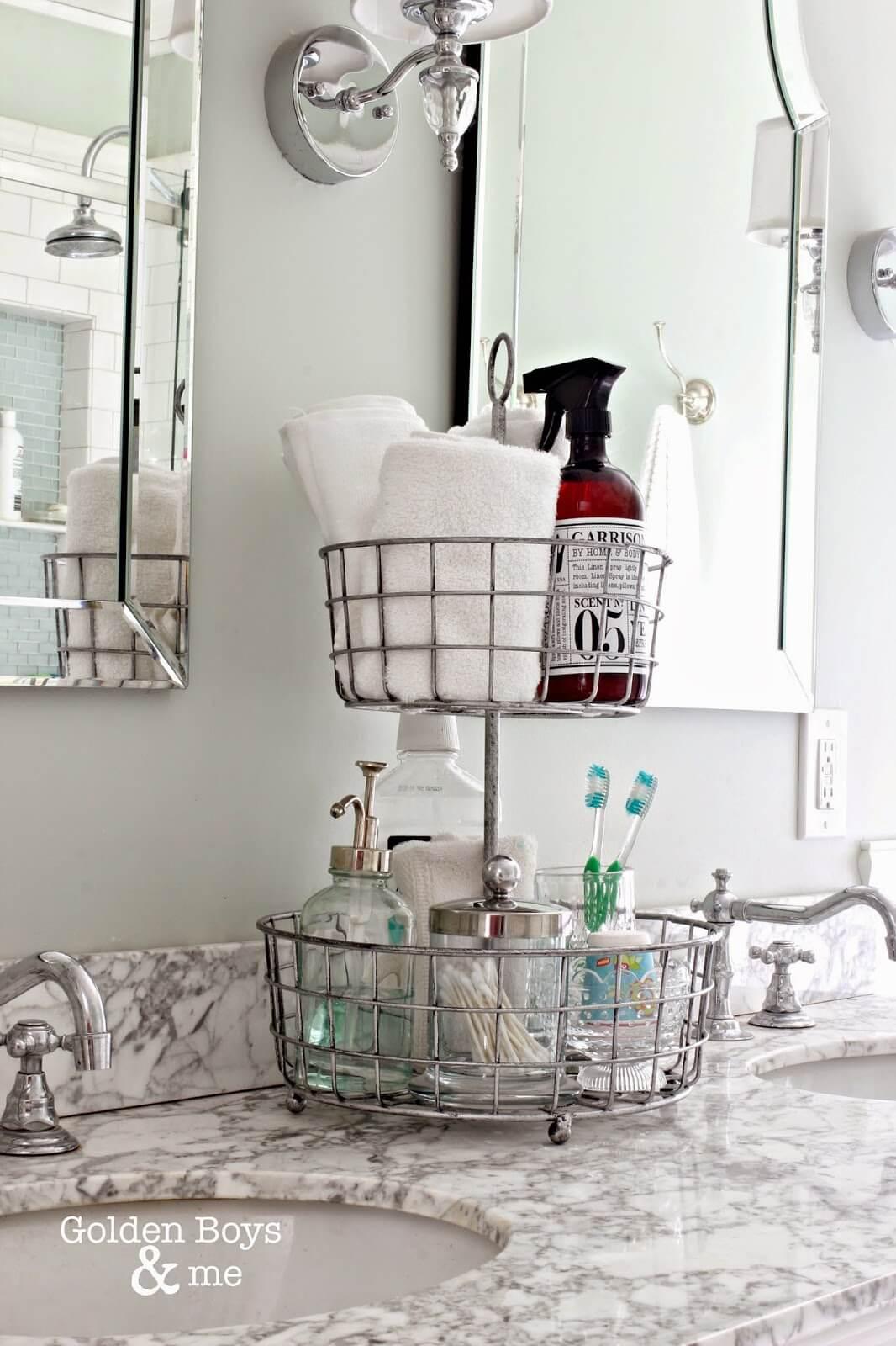 Bathroom organizer countertop