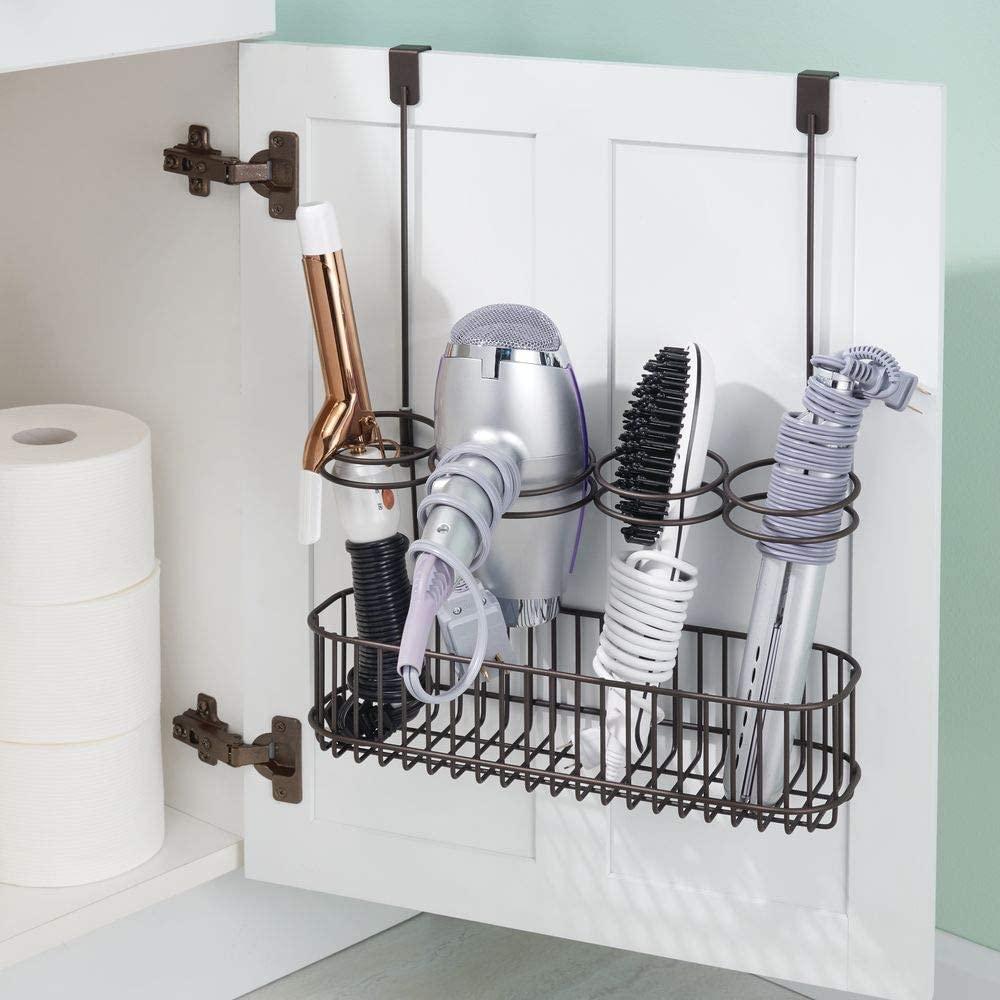 Bathroom organizer storage cabinet doors