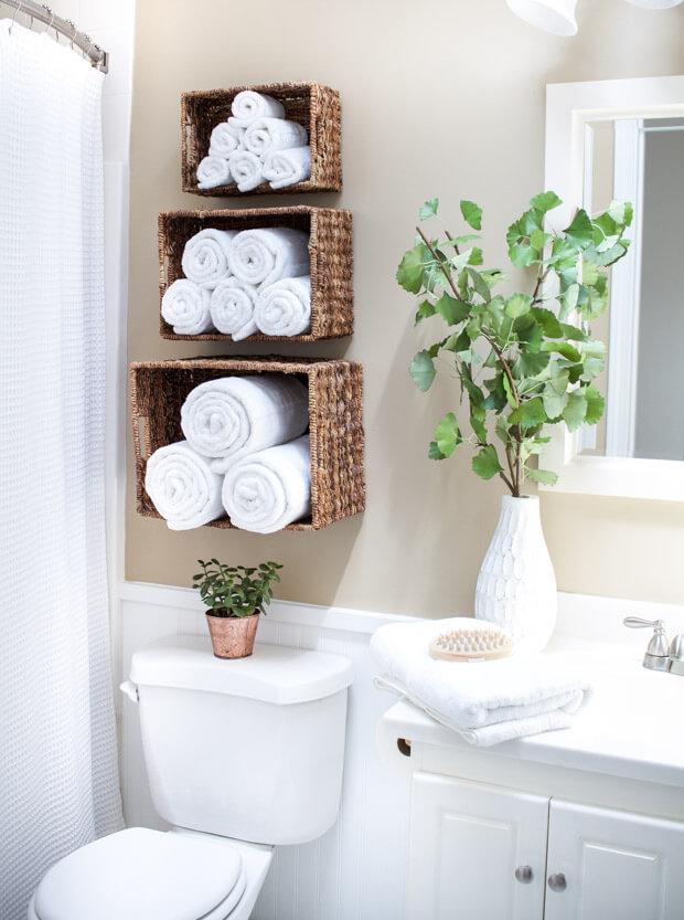 Bathroom storage ideas baskets
