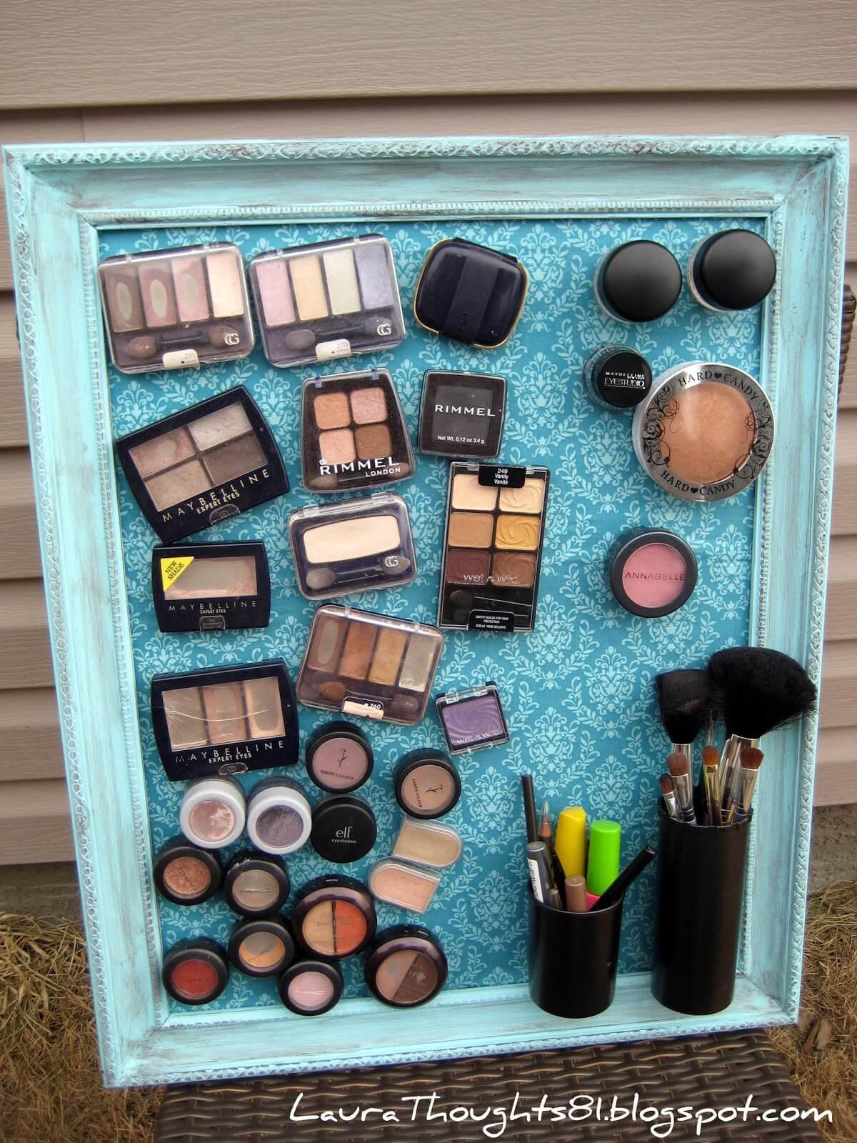 Bathroom storage ideas magnetic makeup organizer
