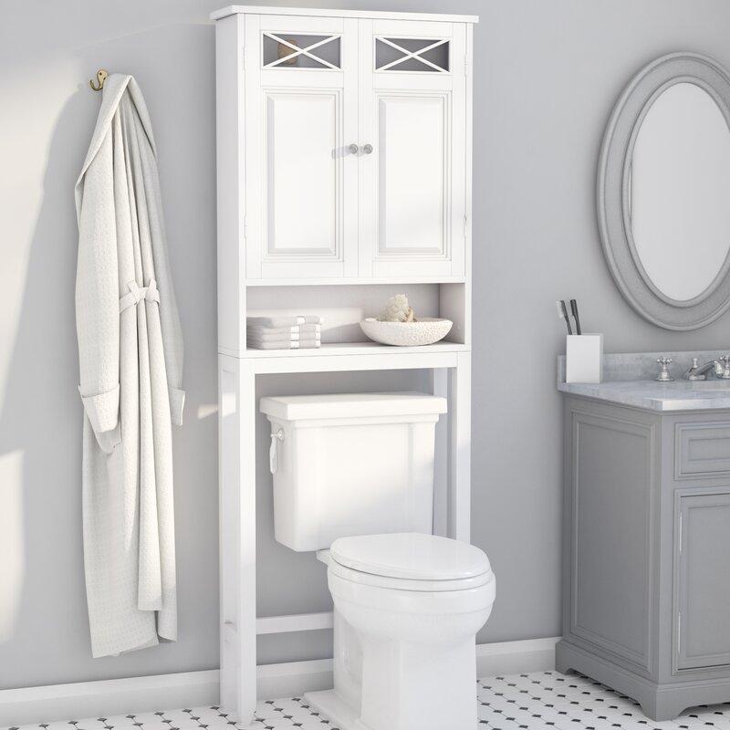 Bathroom storage over the toilet cabinet