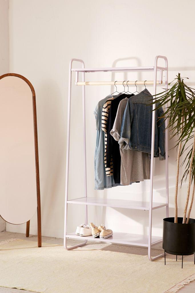 Bedroom organization clothing rack
