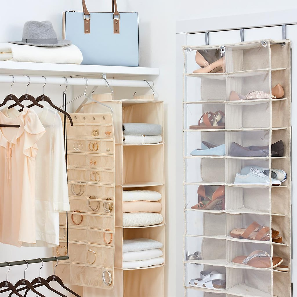 Bedroom organization hacks closet hanging storage