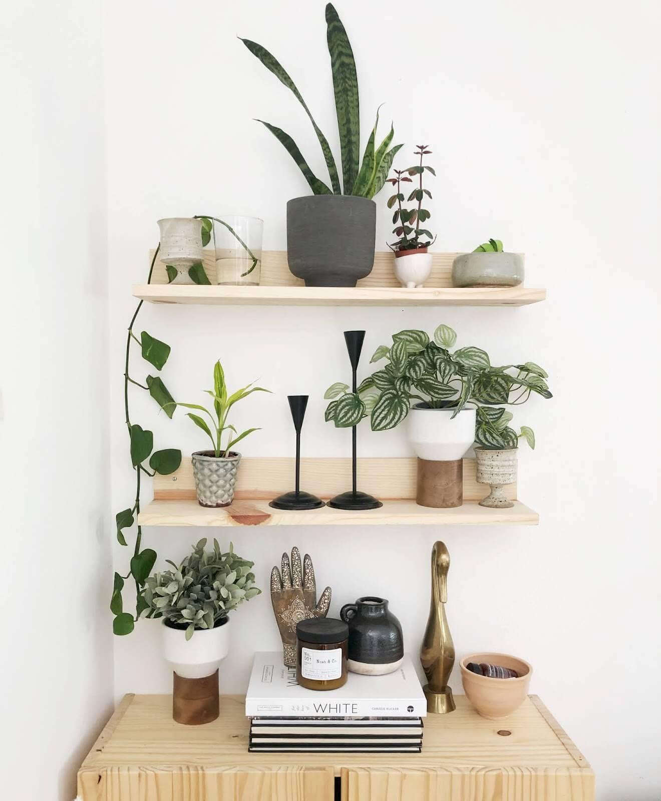 Bedroom organization ideas floating shelves