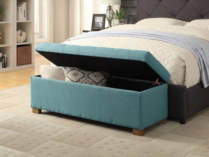 Bedroom organization ideas ottoman storage