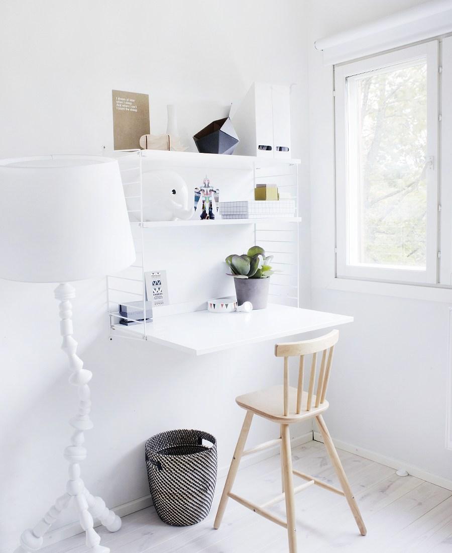 Bedroom organization ideas wall mounted desk
