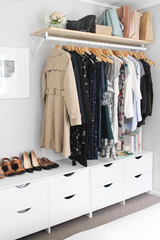 Bedroom organization wardrobe shelf