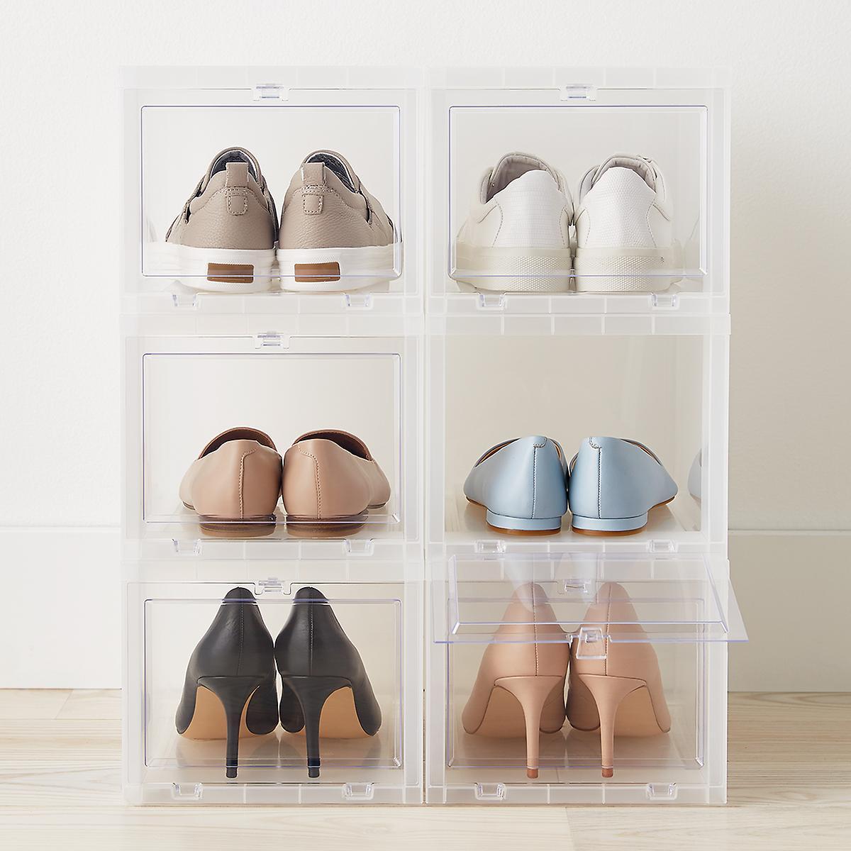 Bedroom organizers stackable shoe storage boxes