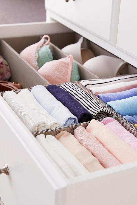 Bedroom organizing hacks drawer organizer