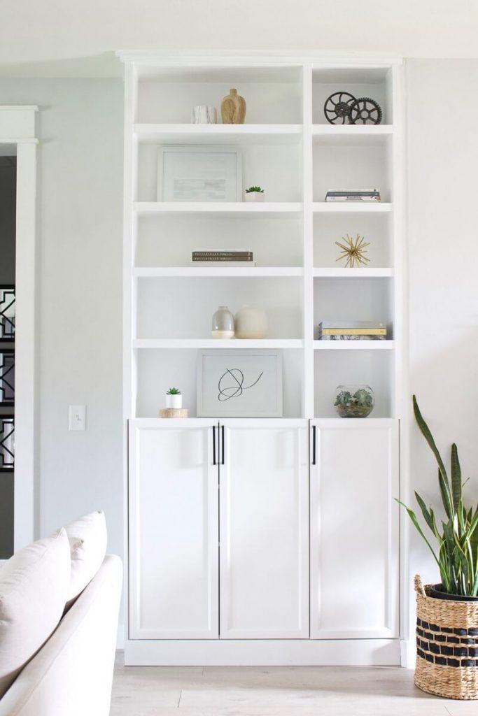 DIY billy bookcase built in
