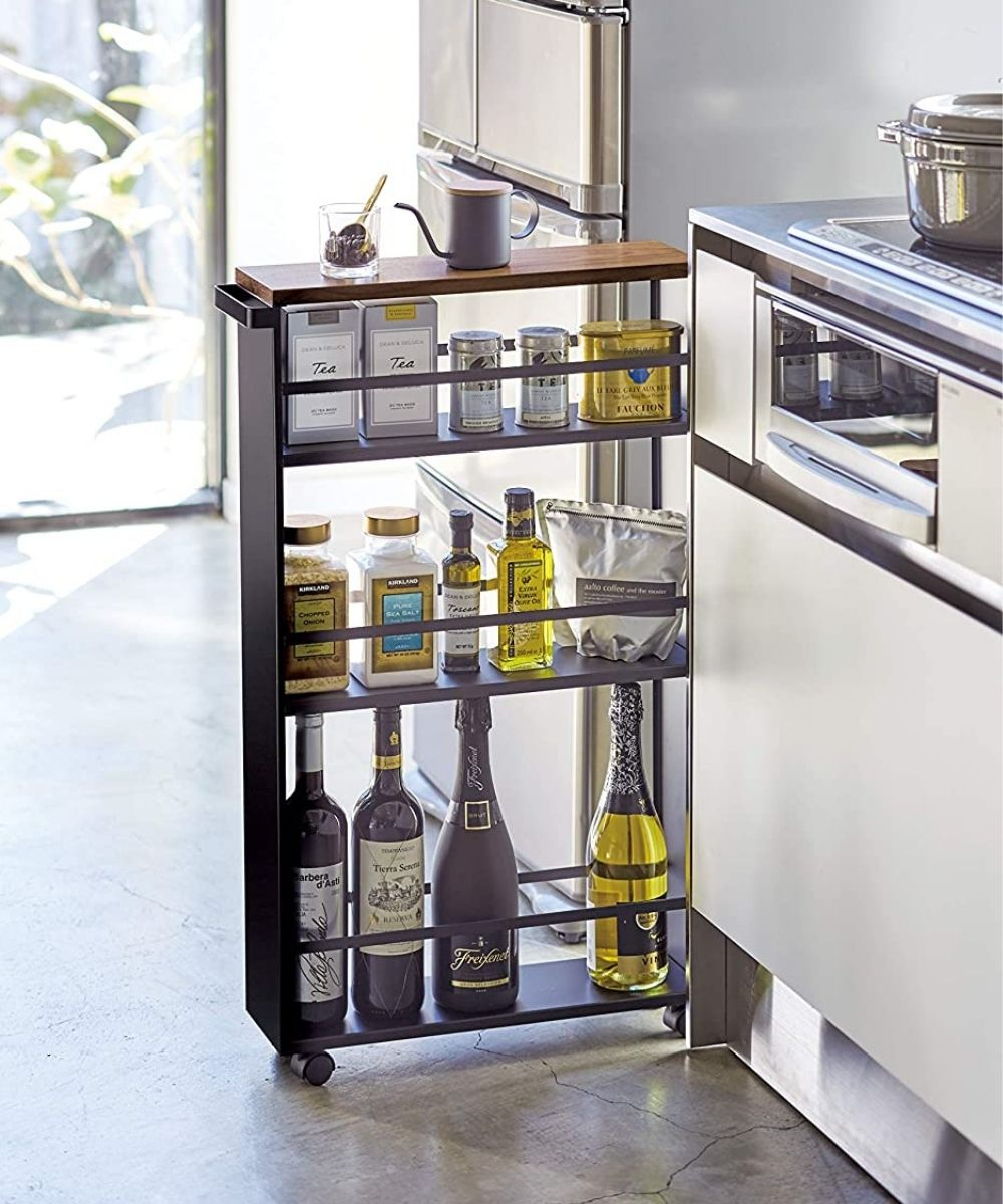 Kitchen organization slim utility cart