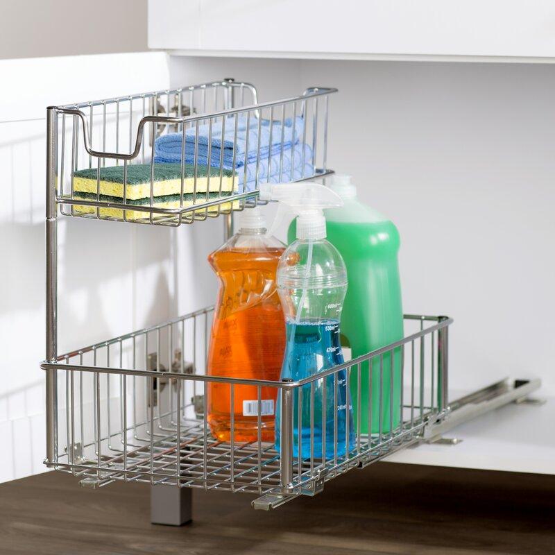 Kitchen organizer pull out drawer