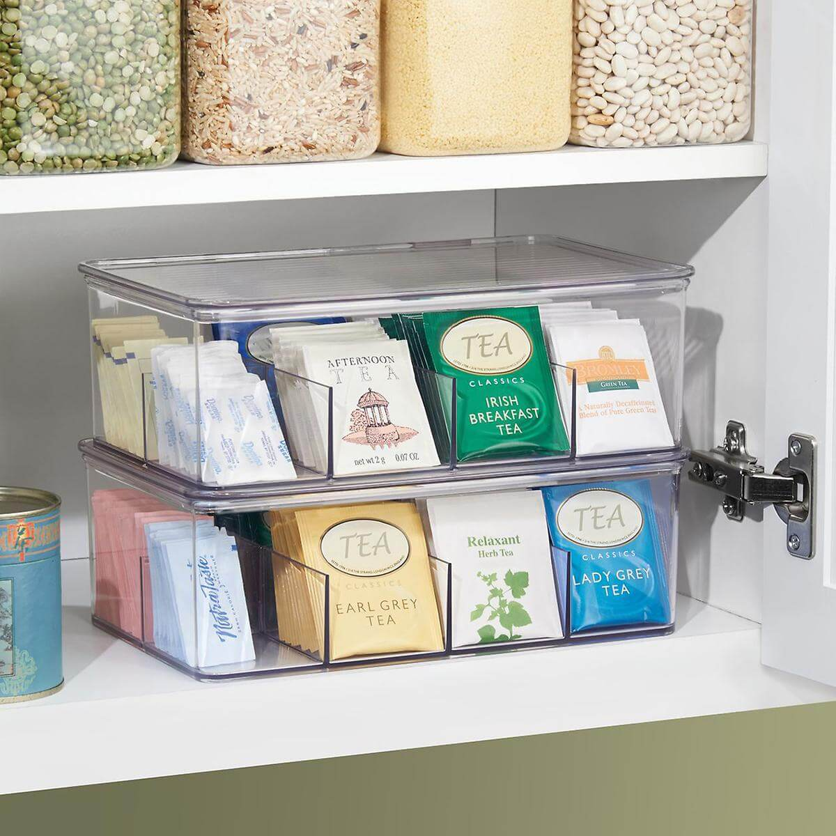 Kitchen organizing tea bag organizer