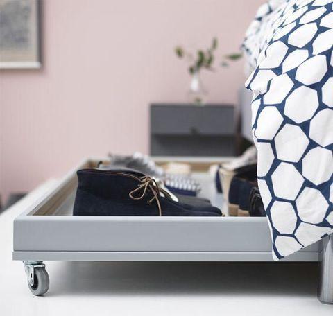 Bedroom organizing under bed storage