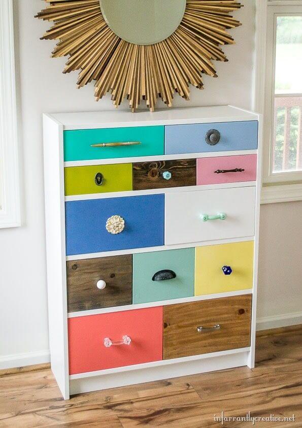 billy bookcase drawer hack