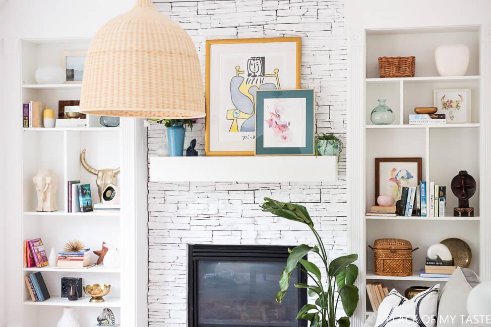 billy bookcase fireplace hack