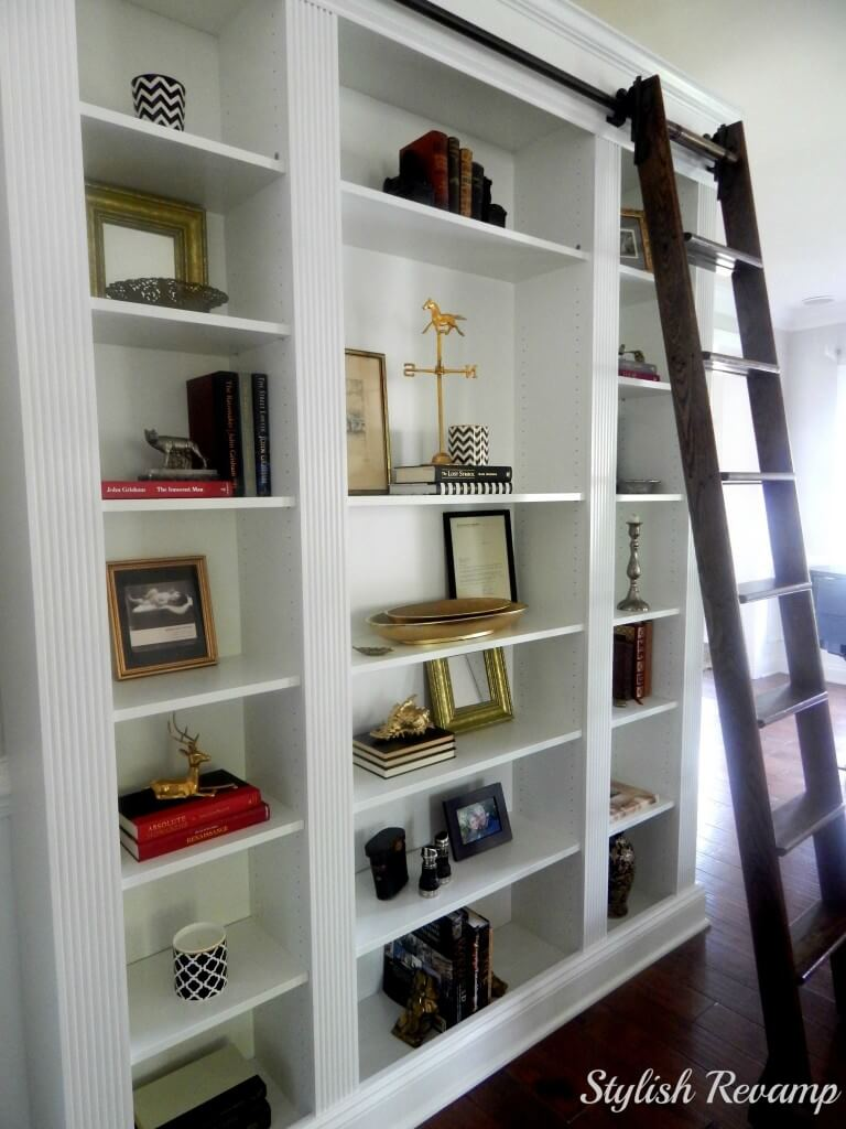 billy bookcase hack ikea with ladder
