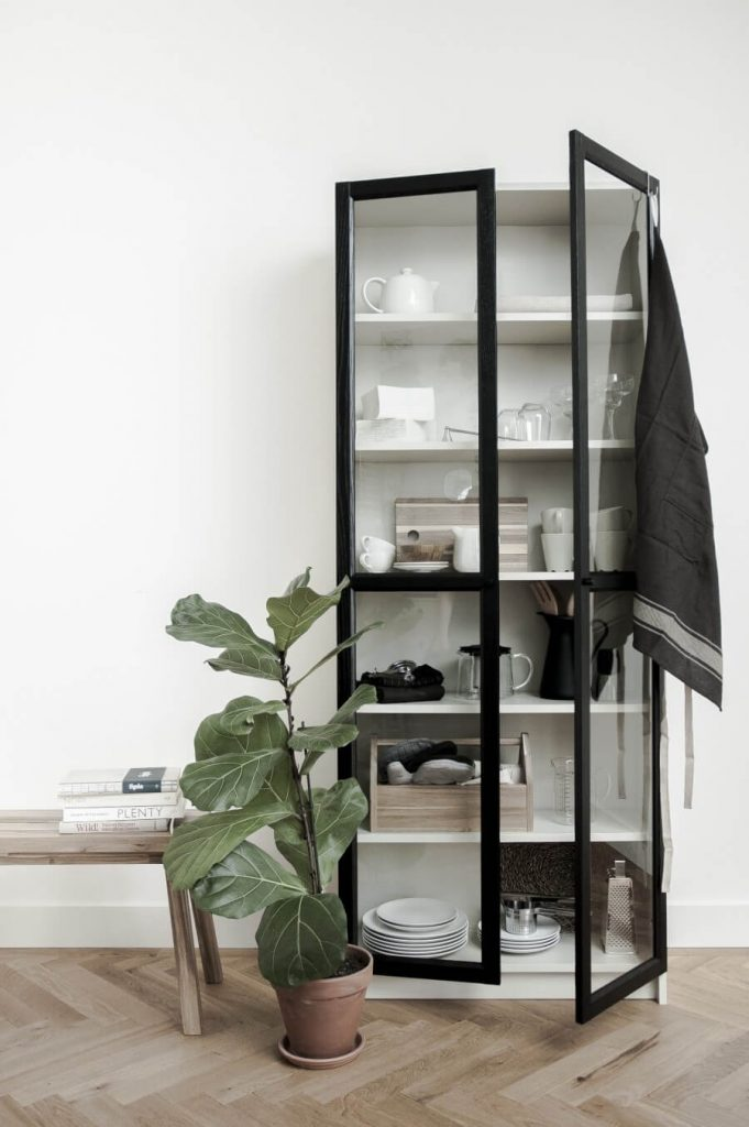 ikea billy bookcase hack with glass doors