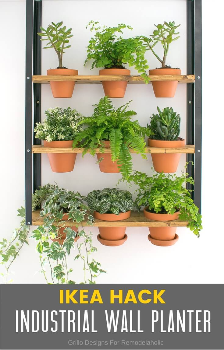 ikea industrial wall planter hack