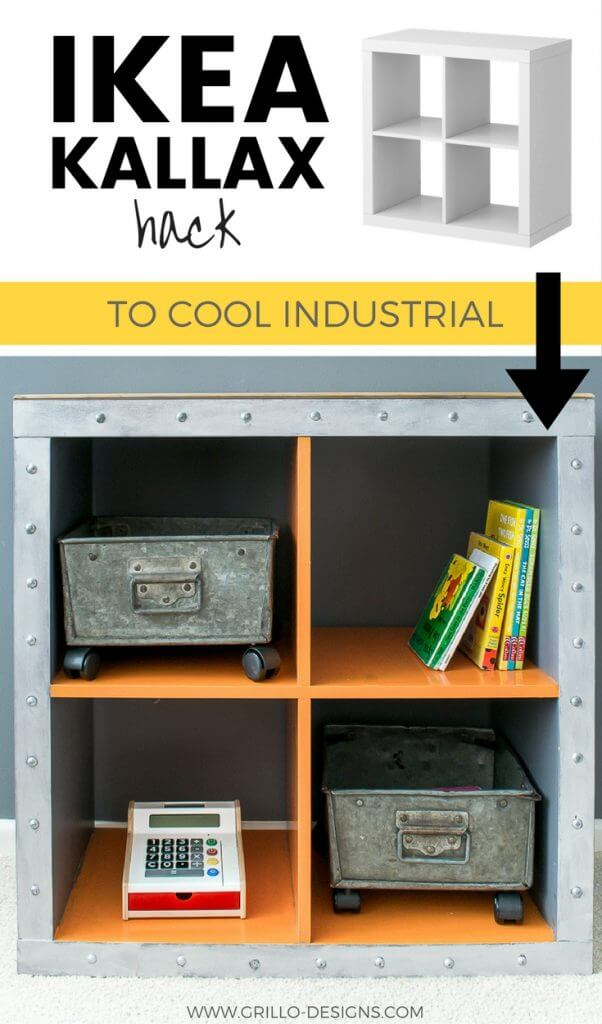 ikea kallax industrial storage hack