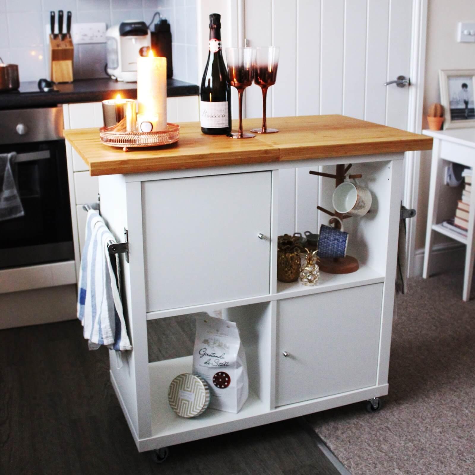 kallax kitchen island hack ikea