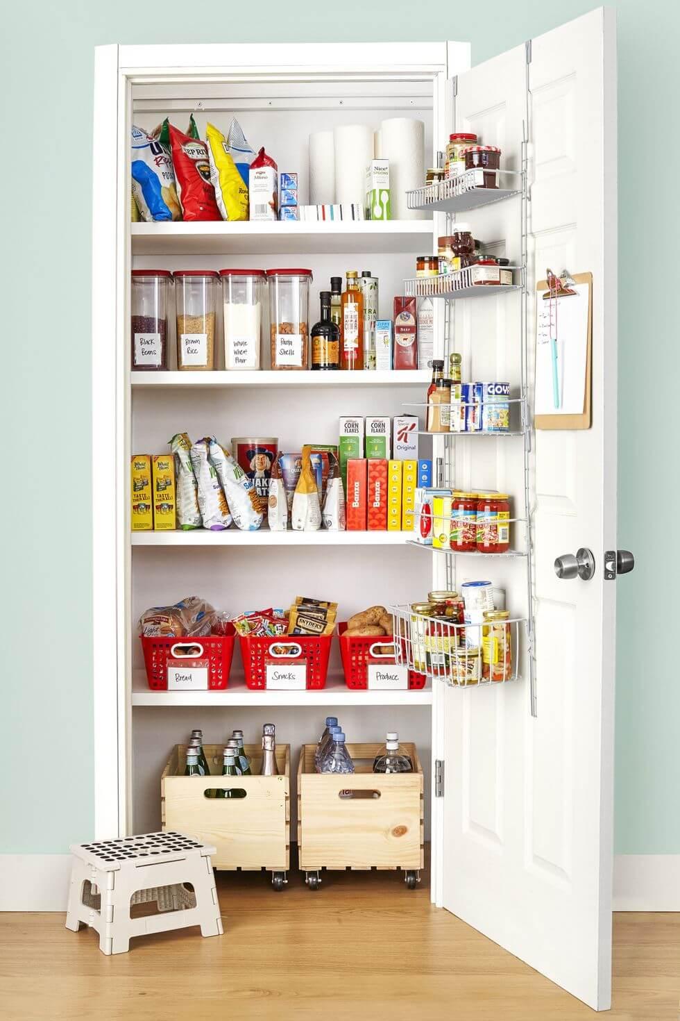 kitchen organization pantry rack