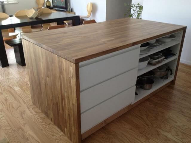 malm dresser hack kitchen cart ikea hack