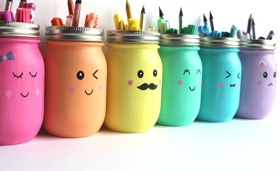 Office-organization-ideas-diy-mason-jar-holder