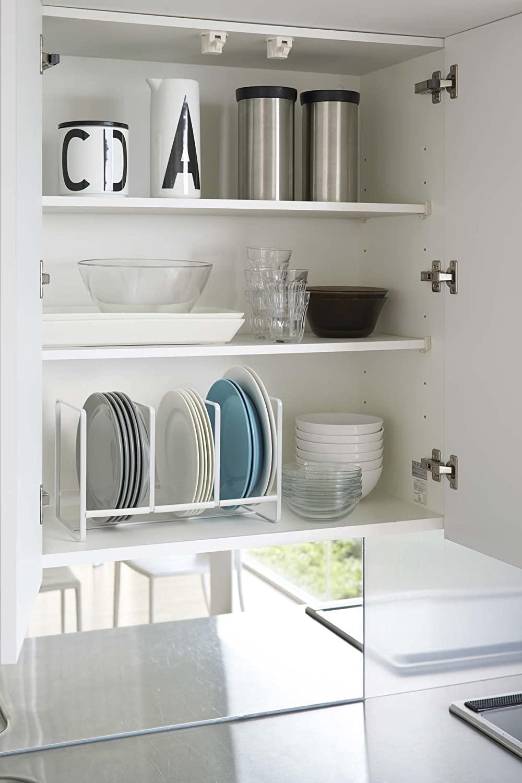 Kitchen-cabinet-organization-vertical-dish-rack