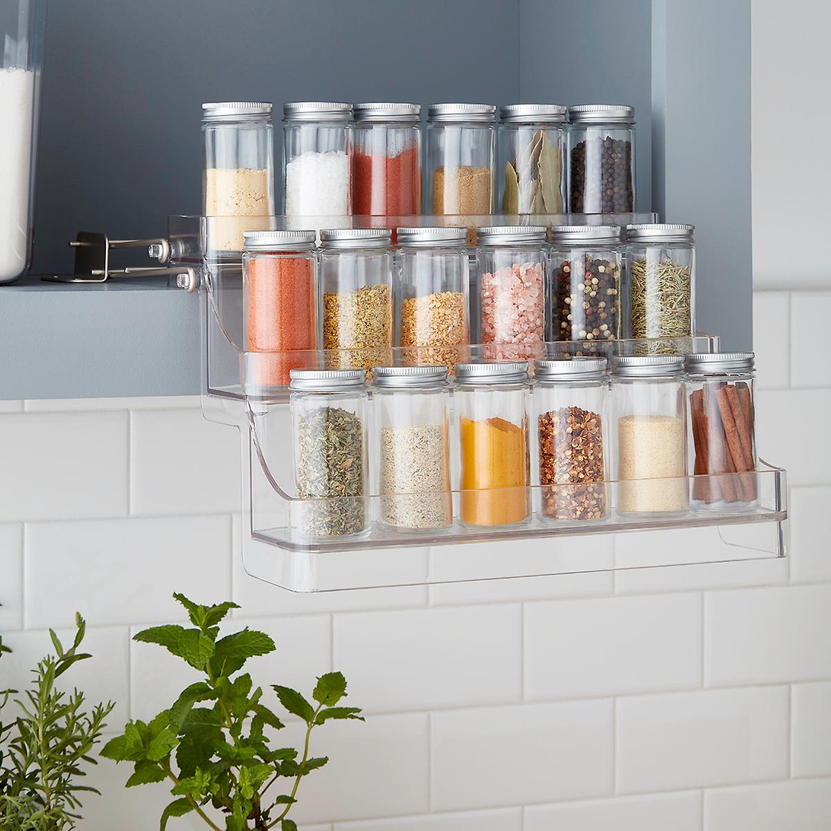 Kitchen-cabinet-organizer-pull-down-spice-rack