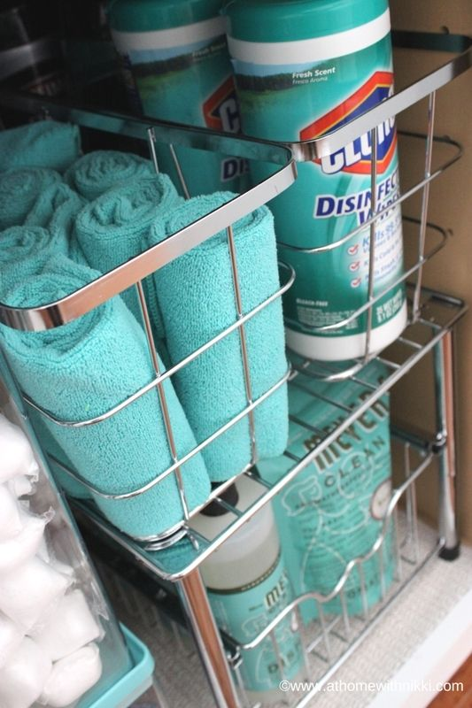 Under-kitchen-sink-organizer-stackable-shelves