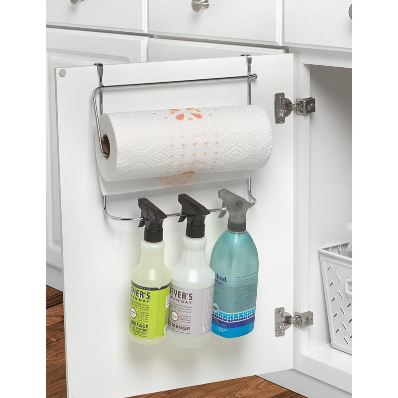 Under-kitchen-sink-organization-over-cabinet-door-organizer