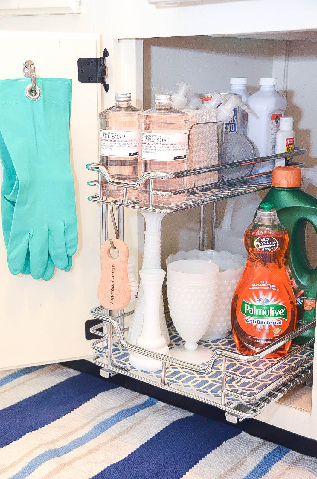 Under-sink-storage-sliding-organizer