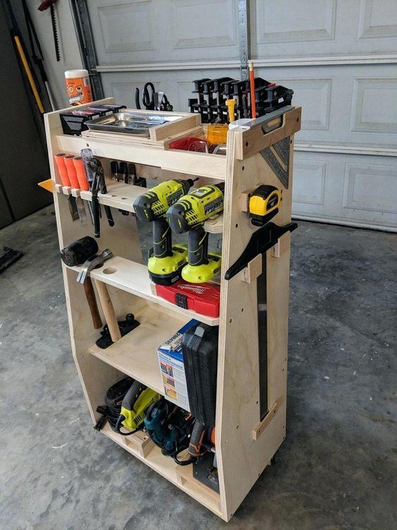 Diy-utility-storage-cart