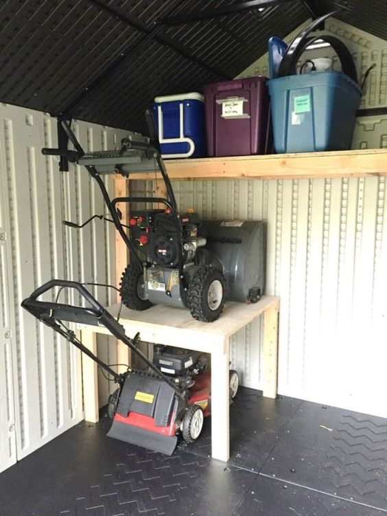 DIY-storage-shelf-Lawn-mower-and-snow-blower